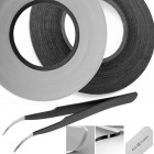 Adhesive Sticker Tape for Cell Phone Repair – 2 Rolls – 1 White – 1 Black