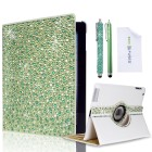 Apple iPad 2/3/4 Rotating Faux Leather Bling Case