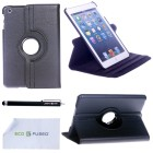Apple iPad Mini Faux Leather Black Case with Smart Cover