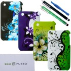 Apple iPhone 3G/3S Floral Hard Cover Bundle – 9 Pieces
