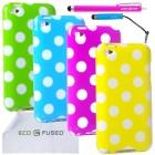 Apple iPod Touch 4 Polka Dot Case Bundle – 9 Pieces